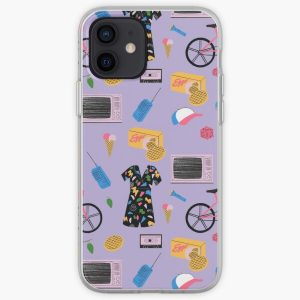 Stranger Things Pattern Purple iPhone Soft Case RB3004product Offical Stranger Things Merch