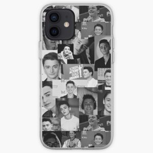 Black and White Noah Schnapp  iPhone Soft Case RB3004product Offical Stranger Things Merch