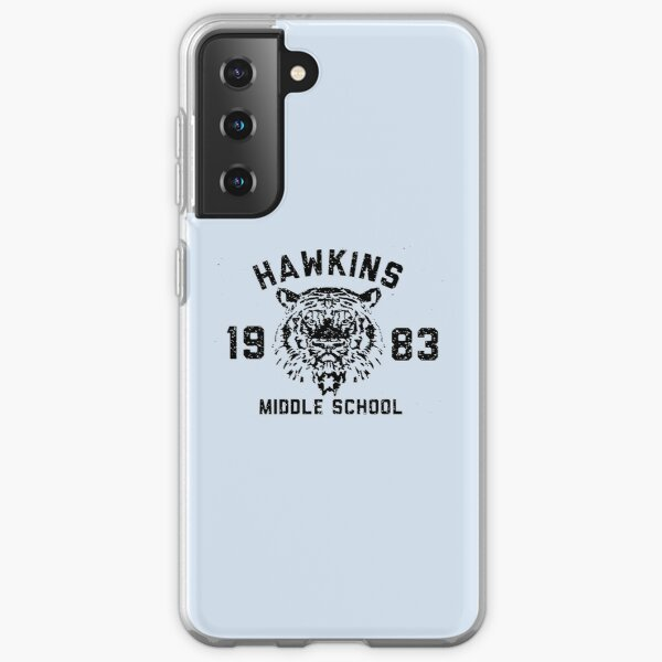 110. Stranger Things Hawkins Middle School black version Samsung Galaxy Soft Case RB3004product Offical Stranger Things Merch