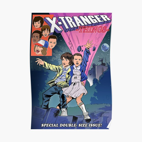 X-Tranger things Poster RB3004product Offical Stranger Things Merch