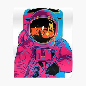 Trippy rainbow Astronaut Poster RB3004product Offical Stranger Things Merch