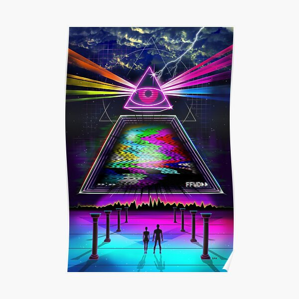 Static Intelligence - VHS 80s Retro Glitch Poster RB3004product Offical Stranger Things Merch