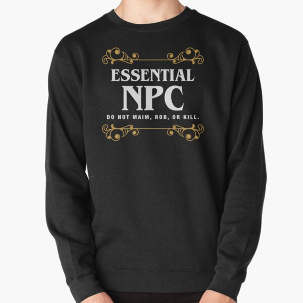 Essential NPC Non-Playable Character Gaming Pullover Sweatshirt RB3004product Offical Stranger Things Merch