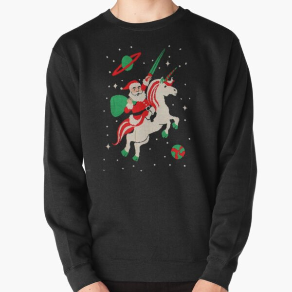 Santa and Unicorn Pullover Sweatshirt RB3004product Offical Stranger Things Merch