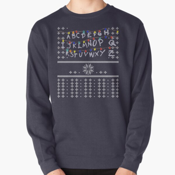 ST Lights Ugly Sweater Pullover Sweatshirt RB3004product Offical Stranger Things Merch