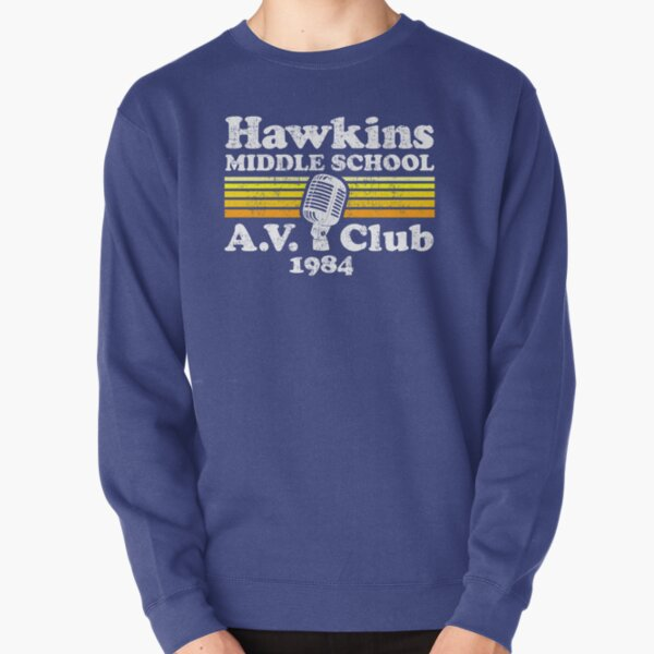 Hawkins Middle School A.V. Club Pullover Sweatshirt RB3004product Offical Stranger Things Merch