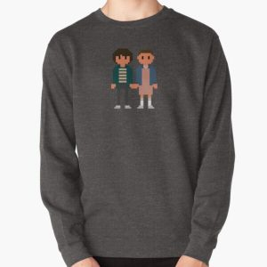 Mike and Eleven - Stranger Things Pullover Sweatshirt RB3004product Offical Stranger Things Merch
