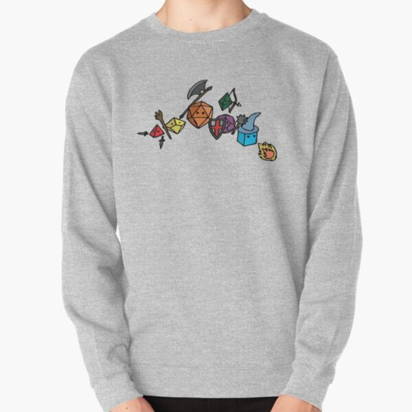 Dice Party - Sketch Version Pullover Sweatshirt RB3004product Offical Stranger Things Merch