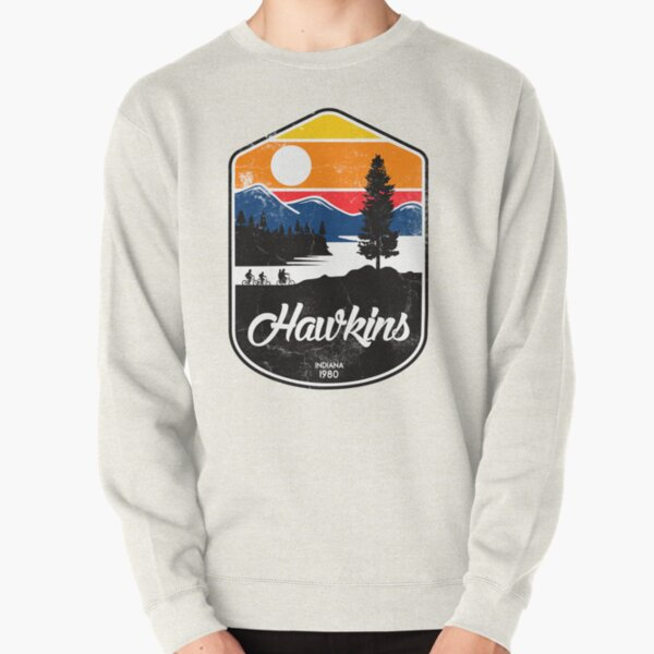 hawkins Pullover Sweatshirt RB3004product Offical Stranger Things Merch