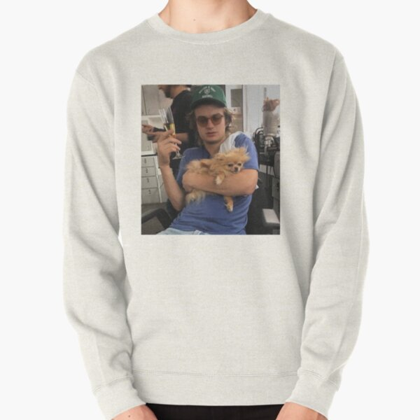 Joe Keery, Champagne and Pomeranian  Pullover Sweatshirt RB3004product Offical Stranger Things Merch