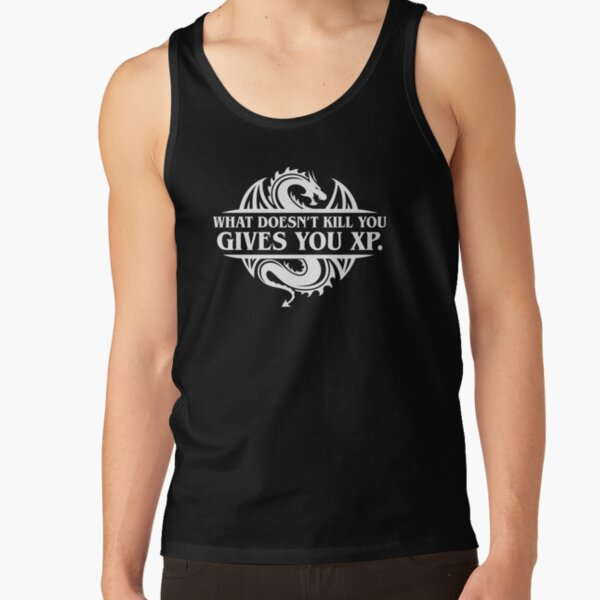 What Doesnt Kill You Give You XP Tabletop RPG Gaming Tank Top RB3004product Offical Stranger Things Merch