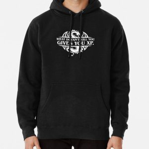 What Doesnt Kill You Give You XP Tabletop RPG Gaming Pullover Hoodie RB3004product Offical Stranger Things Merch