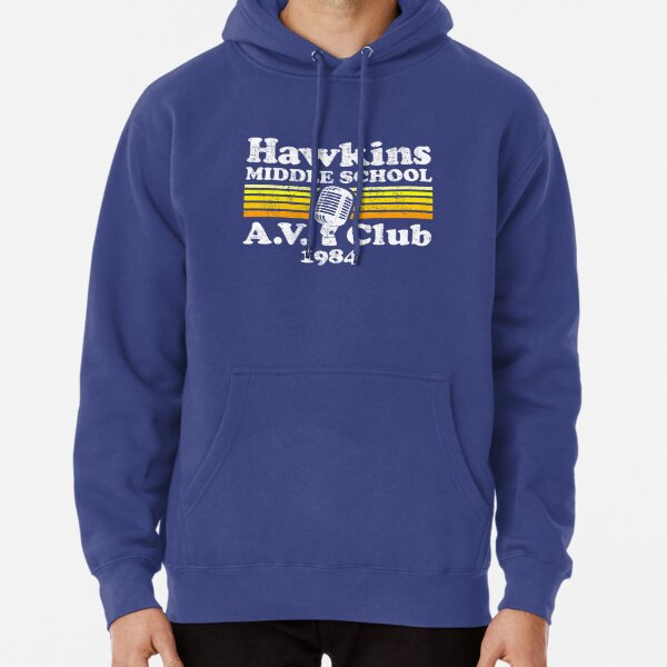 Hawkins Middle School A.V. Club Pullover Hoodie RB3004product Offical Stranger Things Merch