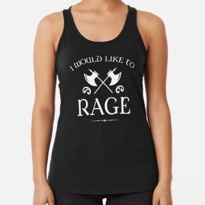 Barbarian - I Would Like To Rage Racerback Tank Top RB3004product Offical Stranger Things Merch