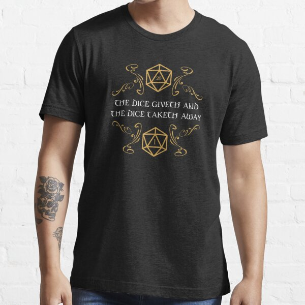 The Dice Giveth and Taketh Away Natural 20 and Critical Fail Essential T-Shirt RB3004product Offical Stranger Things Merch