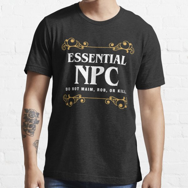 Essential NPC Non-Playable Character Gaming Essential T-Shirt RB3004product Offical Stranger Things Merch