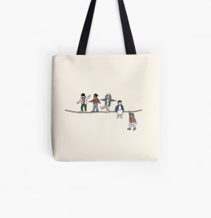 Stranger Things: The Acrobats and the Fleas All Over Print Tote Bag RB3004product Offical Stranger Things Merch