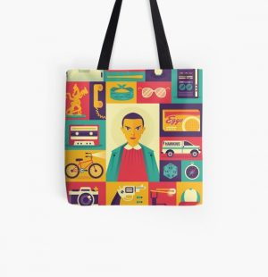 Upside Down All Over Print Tote Bag RB3004product Offical Stranger Things Merch