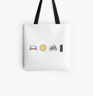 Stranger Things | Icons | Dustin | Eggos | Bikes | Walkie Talkies All Over Print Tote Bag RB3004product Offical Stranger Things Merch