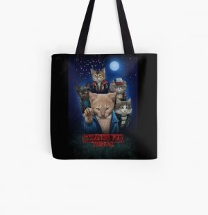 Strange Fur Things All Over Print Tote Bag RB3004product Offical Stranger Things Merch