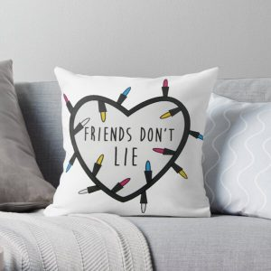 """Stranger Things """"Friends Don't Lie"""" Throw Pillow RB3004product Offical Stranger Things Merch"""