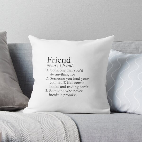 Stranger Things Friend Definition Throw Pillow RB3004product Offical Stranger Things Merch