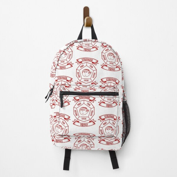 STRANGER THINGS 3: LUCAS PEANUTS (WHITE) GRUNGE STYLE Backpack RB3004product Offical Stranger Things Merch