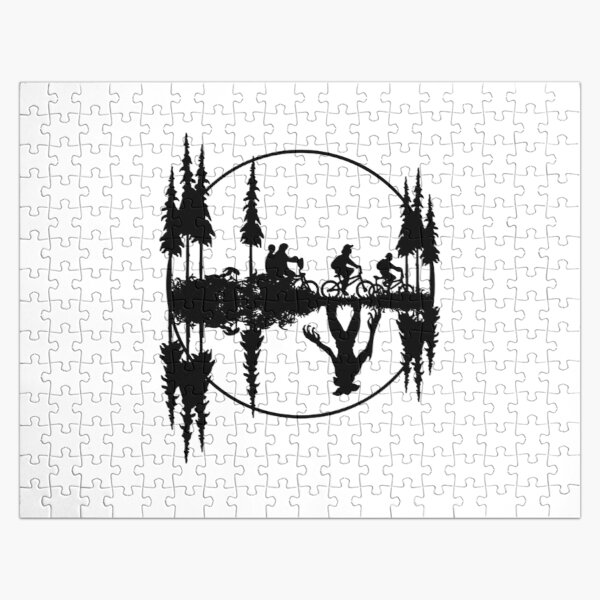 Upside down, stranger things gift, gift for fan Jigsaw Puzzle RB3004product Offical Stranger Things Merch