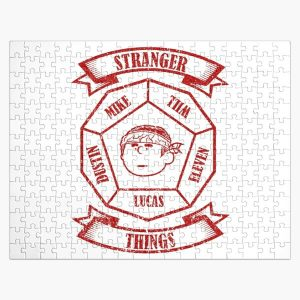 STRANGER THINGS 3: LUCAS PEANUTS (WHITE) GRUNGE STYLE Jigsaw Puzzle RB3004product Offical Stranger Things Merch