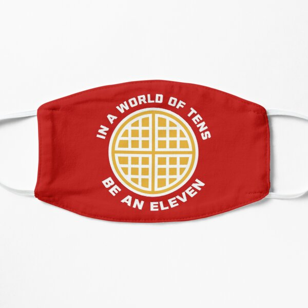 In A World of Tens Be An Eleven Flat Mask RB3004product Offical Stranger Things Merch
