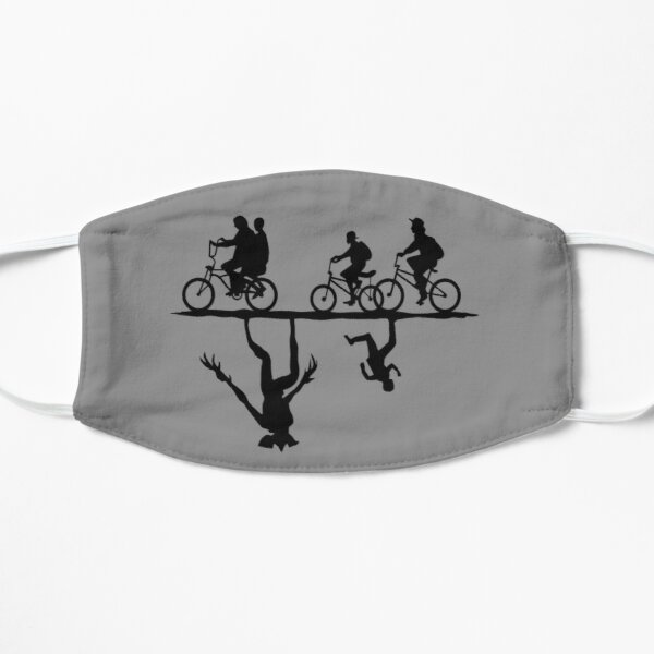 Upside Down  Flat Mask RB3004product Offical Stranger Things Merch