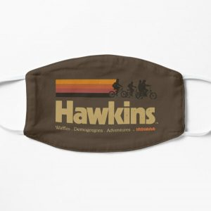 Visit Hawkins Indiana Vintage 80's TV Series Flat Mask RB3004product Offical Stranger Things Merch