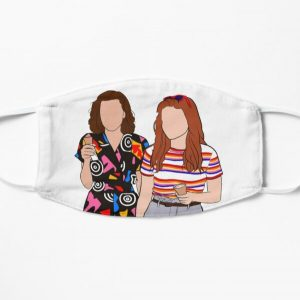 Eleven and Max Flat Mask RB3004product Offical Stranger Things Merch