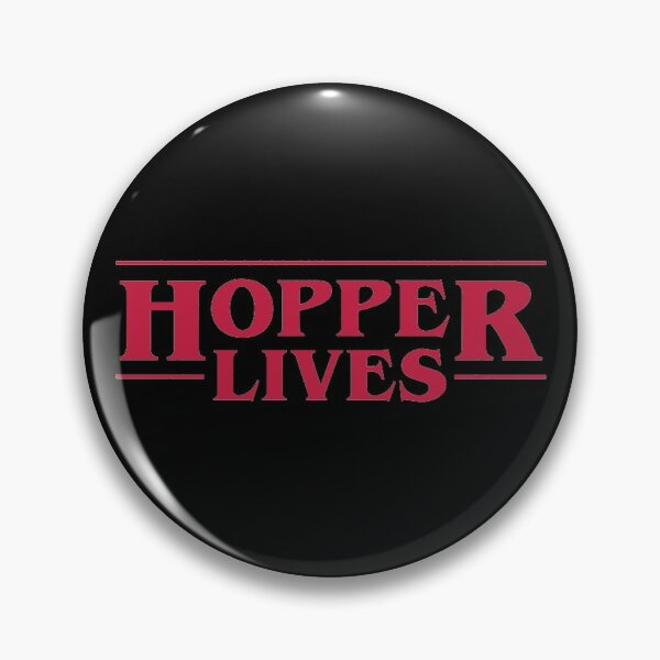 Chief Hopper Lives Pin RB3004product Offical Stranger Things Merch