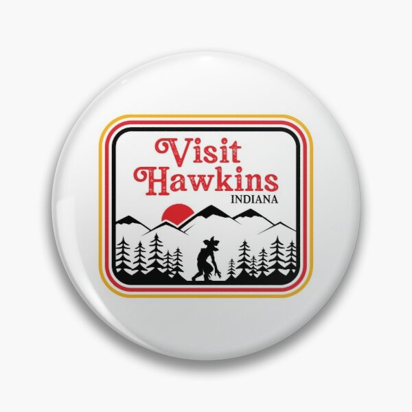 Visit Hawkins Retro Pin RB3004product Offical Stranger Things Merch