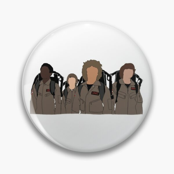 Stranger Things - Ghostbusters (Color) Pin RB3004product Offical Stranger Things Merch