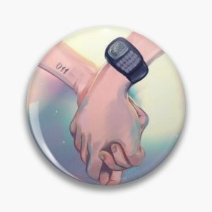 Mileven Holding Hands Pin RB3004product Offical Stranger Things Merch
