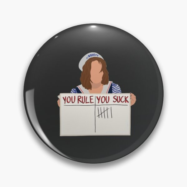 YOU SUCK ~ Stranger Things 3 Robin Pin RB3004product Offical Stranger Things Merch